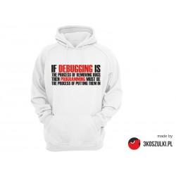 Debugging vs programming - bluza z kapturem