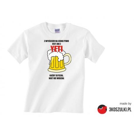 Z wyjściem na jedno piwo jest jak z YETI