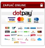 Rozliczenia transakcji kartą kredytową i e-przelewem przeprowadzane są za pośrednictwem Dotpay.pl